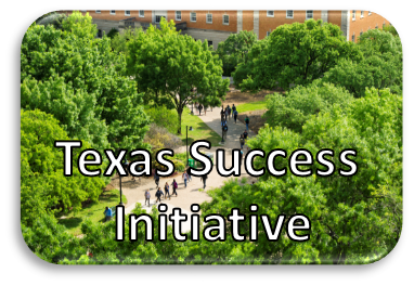 Photo of UNT area with Texas Success Initiative written on the photo.