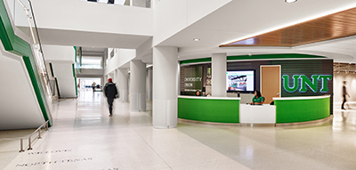 photo of the information desk located on the second floor of the University Union.